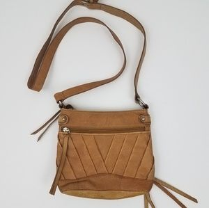 Small leather crossbody bag. 100% leather